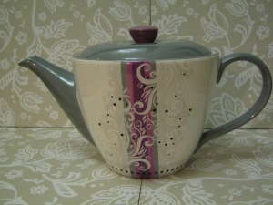 Grey and Pink Teapot
